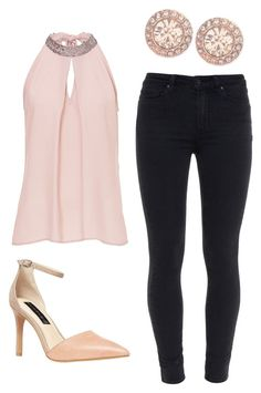 """""""Outfit Idea by Polyvore Remix"""" by polyvore-remix ❤ liked on Polyvore featuring Paige Denim, Steven by Steve Madden, Vera Mont and Givenchy"""