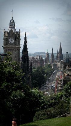 The lovely Princes Street in Edinburgh, Scotland.