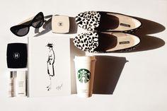 #fashion #still #life #shoes #chanel #book #beauty #starbucks
