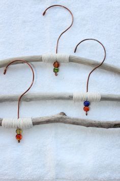 Driftwood Hangers  Set of 3 Driftwood Display by StrollinTheBeach