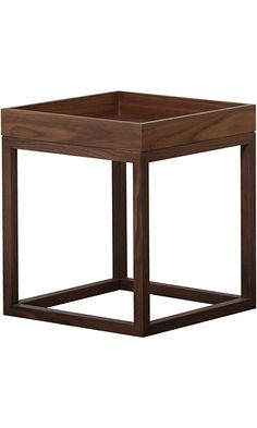 Abbyson Living Charles Square End Table, Walnut Best Price