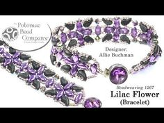 Allie teaches you how to make the Lilac Flower Bracelet. Supplies are at www.potomacbeads.com
