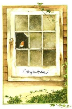 Marjolein bastin bird in window Marjolein Bastin, Nature Artists, Through The Window, Dutch Artists, Painting Tips, Botanical Prints, Bird Art, Art Pieces, Illustration Art