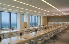 Bernhardt Design's Traction table at Greenberg Traurig by Perkins+Will