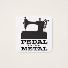 Pedal to the Medal Square Card - black gifts unique cool diy customize personalize