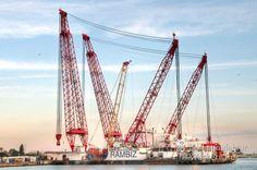 nice Fotografie »RAMBIZ Schwimmkran«,  #Hafenbilder