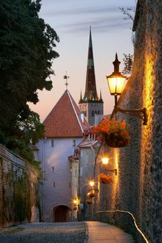 """Long Leg"" street that lead to the main gate separating the Upper Town and…"