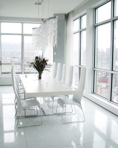 Modern White Dining Room Minimalist Dining Room Ideas Designs S Inspirations White Dining Room Sets, Dining Room Blue, White Dining Table, Dining Room Design, Dining Rooms, Dining Area, Dining Chairs, Minimalist Dining Room, Outdoor Dining Furniture