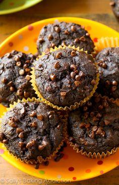Sallys Baking Addiction 130 Calorie Chocolate Pumpkin Spice Muffins. - Sallys Baking Addiction