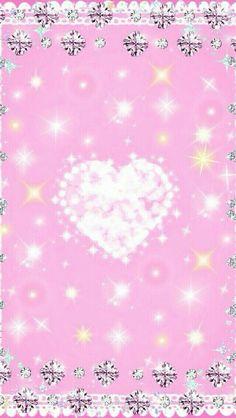 Wallpaper... By Artist Unknown... Love Wallpaper Backgrounds, Heart Iphone Wallpaper, Sparkle Wallpaper, Flowery Wallpaper, Cool Wallpapers For Phones, Star Wallpaper, More Wallpaper, Kawaii Wallpaper, Cellphone Wallpaper