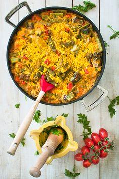 Arroz con pollo y verduras | Claudia&Julia