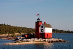 Round Island (Straits of Mackinac, Lake Michigan/Lake Huron) [Mackinac Island, Michigan, USA]