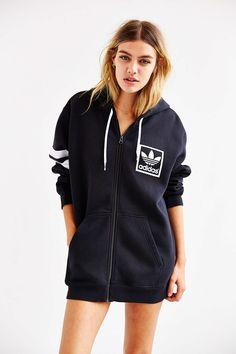 adidas Trefoil Zip-Up Hoodie Sweatshirt