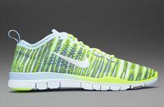 Nike Womens Free 5.0 Tr Fit 4 Prt - Womens Running Shoes - Antarctica-White-Volt-Purple Stl