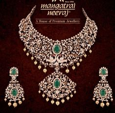 Closed setting diamond haram and earrings set photo South Indian Jewellery, Indian Jewellery Design, Indian Jewelry, Jewelry Design, Wedding Jewelry, Gold Jewelry, 22 Carat Gold, Earring Set, Jewels