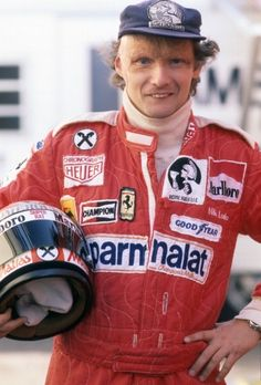 Niki Lauda Italian Grand Prix 1977. He owned his burns and didn't stop doing what he loved.