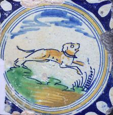 Antique Dutch Baluster Tile Animal Rare Tiles 17th Decorative Arts Free Shipping Elegant In Style