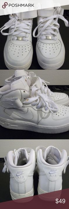 Nike Air Force 1's Mid Size 4Y Pre-Owned, gently used Nike Air Force 1's Mid Nike Shoes Sneakers