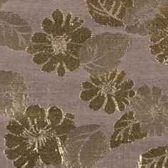 Phillip Lim Metallic Gold/Taupe Floral Jacquard Fabric by the Yard   Mood Fabrics