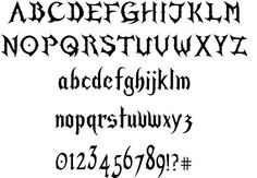 Gothic Fonts | Mirage Gothic font by Carlos Mario Pena Solis - FontRiver