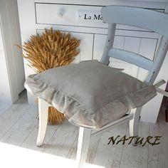 Lněný povlak na podsedák  kolekce NATURE  40x40cm