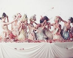 marie antoniette bridal party photo - @Wandering Bohemian Photography would love this