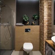 Lirowa industrialna kuchnia od kodo projekty i realizacje wnętrz industrialny   homify Toilet, Bathroom, Retro, Washroom, Flush Toilet, Full Bath, Toilets, Bath, Retro Illustration