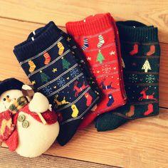 Barato O novo Caramella algodão árvore de natal meias bajular Vintage japonês mulheres meias atacado 10395, Compro Qualidade Meias diretamente de fornecedores da China:
