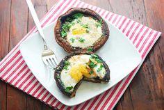 Eggs Baked in Portobello Mushrooms | Healthy Recipes