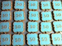 some of the 75 cookies for a wedding anniversary. 50th Anniversary Cookies, 50th Wedding Anniversary, Anniversary Parties, Anniversary Ideas, Cupcake Cookies, Sugar Cookies, Cupcakes, 90th Birthday, Party Favors