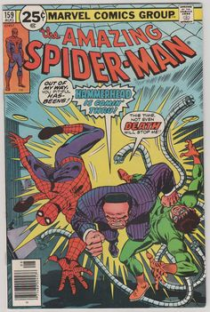 Amazing SpiderMan Vol 1 159. VF. Aug 1976. by RubbersuitStudios #spiderman #comicbooks