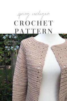 Crochet Cardigan Pattern Free Women, Crochet Shirt, Knit Crochet, Crochet Sweaters, Crochet Patterns, Crochet Gift Ideas For Women, Types Of Knitting Stitches, Crochet Clothes, Vest