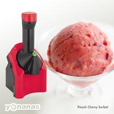 Peach Cherry #Yonanas Sorbet Recipe