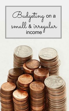 How to cope with a small budget when you're self employed with an irregular income.