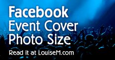Do you run #Facebook events? If so, you'll want to get that all-important image size right, to grab eyeballs and capture leads! Learn the Event Cover Photo size as well as the Wall Photo size here. #FacebookMarketing