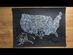 (116) How to DIY a hand lettered USA poster - YouTube