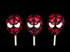Click here to learn how to make and decorate Spiderman cake pops from Cookies Cupcakes and Cardio!