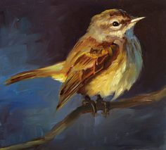 Palm Warbler  Bird Painting  Open Edition Print of by FinchArts, $20.00
