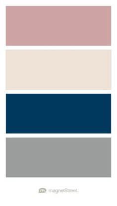 Custom Pink, Custom Gray, Navy, and Classic Gray Wedding Color Palette - custom color palette created at MagnetStreet.com