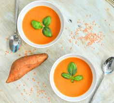 Slimming World Syn Free Yummy Sweet Potato & Red Lentil Soup Maker Recipe Healthy Canned Soups, Healthy Soup, Healthy Cooking, Healthy Eating, Healthy Recipes, Healthy Meals, Lentil Recipes, Soup Recipes, Crockpot Recipes