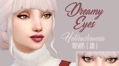 Heterochromia Dreamy Eyes - The Sims 4 Catalog Sims 4 Cc Eyes, Sims 4 Cc Skin, Sims Cc, Multi Colored Eyes, Different Colored Eyes, Sims 4 Body Mods, Sims Mods, Heterochromia Eyes, Sims 4 Studio
