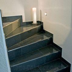 China Impala Black Granite Stairs, Padang Dark Black Granite Stairs