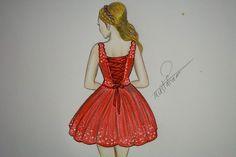 16bc8bebd تعلم رسم جسم فتاة مع فستان قصير مميز How to draw girl with a dress