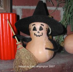 Make a cute kitchen witch to watch over your home and hearth when the autumn harvest rolls in!