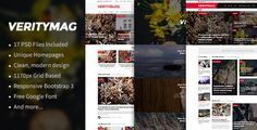 Download Free              VerityMag - News & Magazine PSD Template            #               blog #editorial #magazine #magazine theme #news #news portal #news website #newspaper #online magazie #online news #online newspaper #portal #posts #publishing