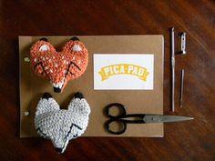Crochet Fox Pin - Tutorial