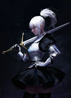 Sword Lady, dongho Kang on ArtStation at https://www.artstation.com/artwork/L6lVl