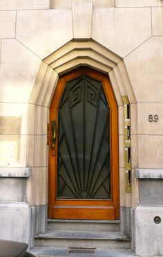 Art Deco Doorway. Belgium.
