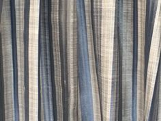 Blue Stripes Curtain Drapes Curtain Panels Custom Curtains Window Curtains Valance Bedroom Curtains Window Treatment Door Curtains For Sale by FabricMart on Etsy