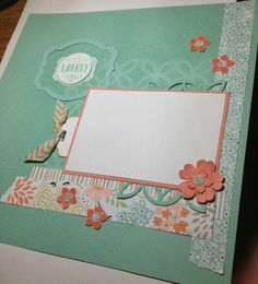 Sweet Sorbet DSP Scrapbook page. Loving the SAB papers right now!